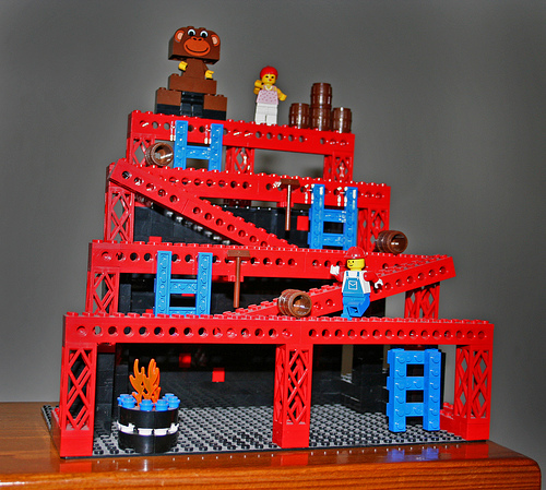Lego creation from Donkey kong